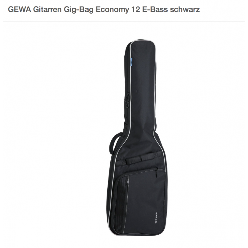 GEWA 212.500 E-Bass Gig-Bag Economy 12 schwarz_2084