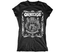 Orange MC-T-SHIRT-CREST-Lady-BLK-S, T-Shirt_2107