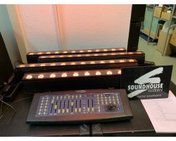""" SET 4 x Litecraft LED AT3&Showtec Scanmaster Occ_2367"