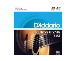 D'Addario EJ36 12-String Gitarren-Saiten Acoustic_2527