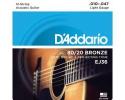 D'Addario EJ36 12-String Gitarren-Saiten Acoustic_2558