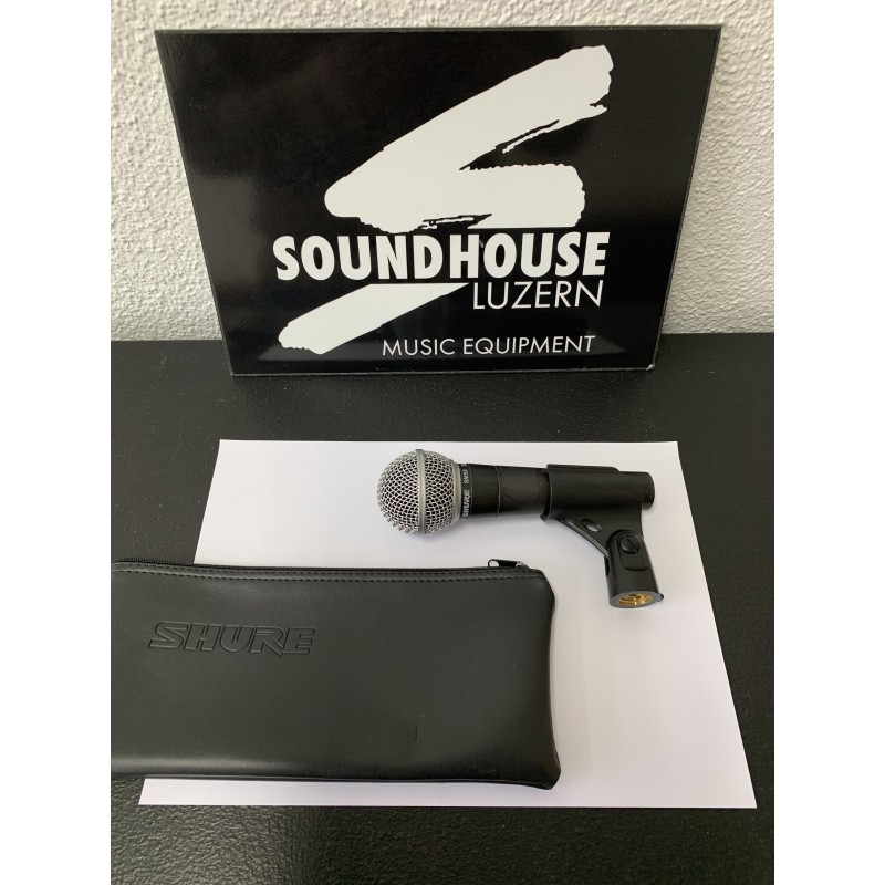 """ Shure SM58 Gesangs-Mikrofon, dynamisch Occasion_3264"