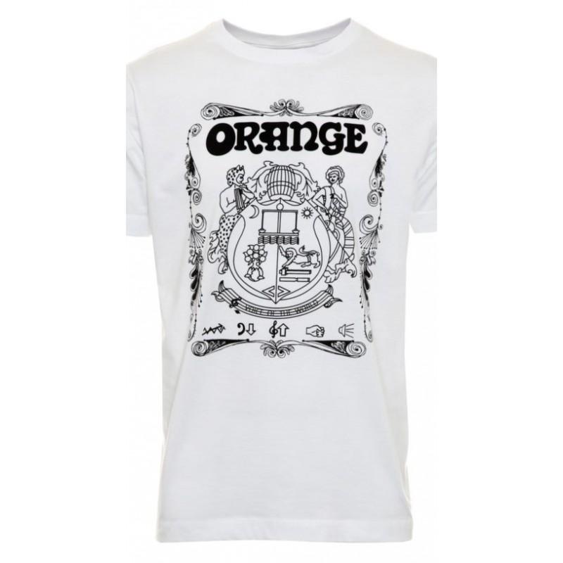 Orange MC-T-SHIRT-CREST-WHITE-S, T-Shirt_526