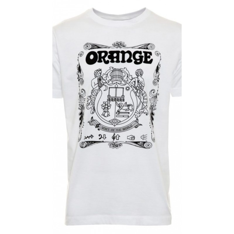 Orange MC-T-SHIRT-CREST-WHITE-L, T-Shirt_528