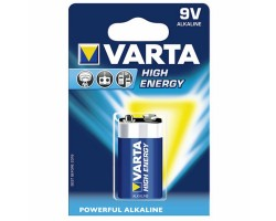 Varta Batterie 6LR61 VA 9V Block High Energy_706