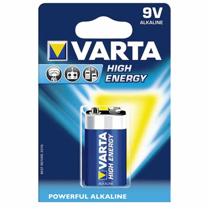 Varta Batterie 6LR61 VA 9V Block High Energy_706
